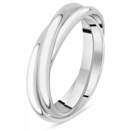 bague or blanc trois anneaux
