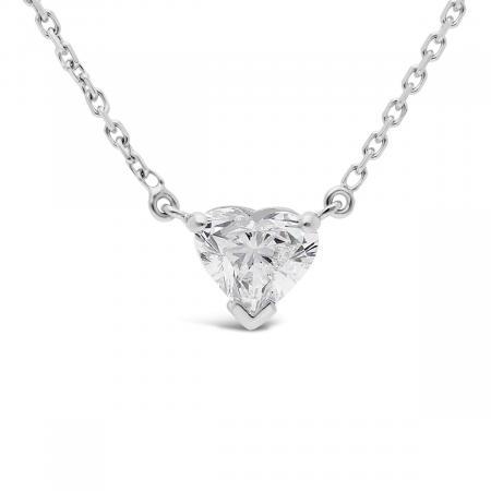 collier diamant en forme de coeur